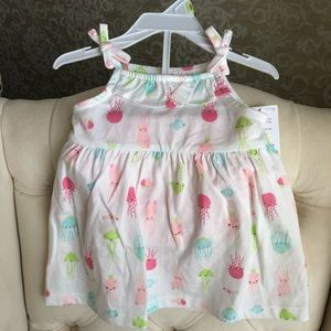 Carters octopus sundress with pink bottoms